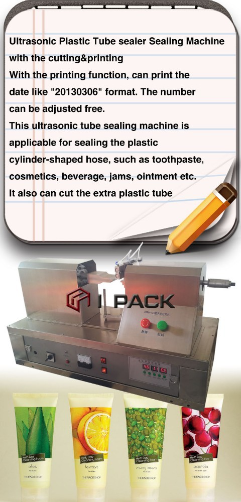date printing, Cosmetic Tube Tail End Sealing Machine For Medicine Chemical Cream ,tube sealing machine