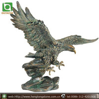 Large Bronze Flying Eagle Sculpture for Sale