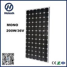 Full power factory direct A grade cheap price 12v 24v 36v 200W MONO SOLAR PANEL