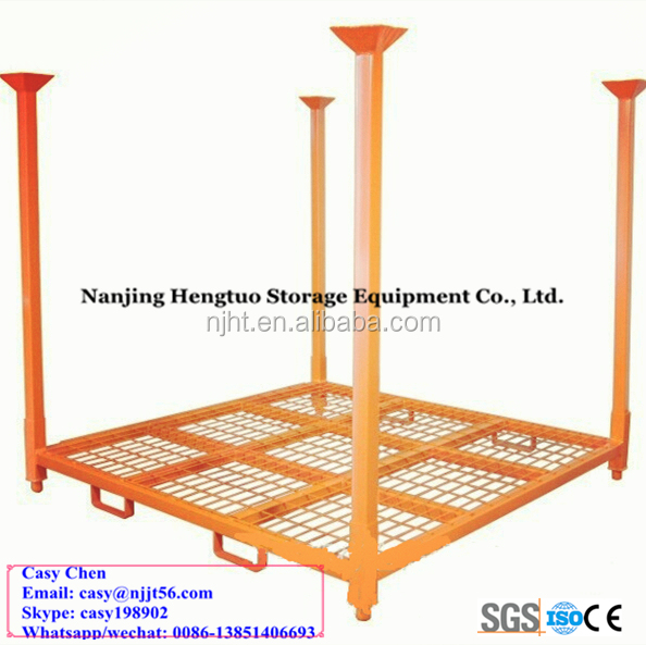 heavy duty warehouse steel stacking rack/ pallet stacking frame