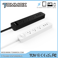 Tommox American usa voltage protector multiple power socket american socket