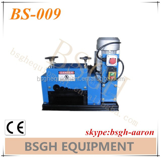 portable BS-002 automatic wire peeling recycling cutting machine
