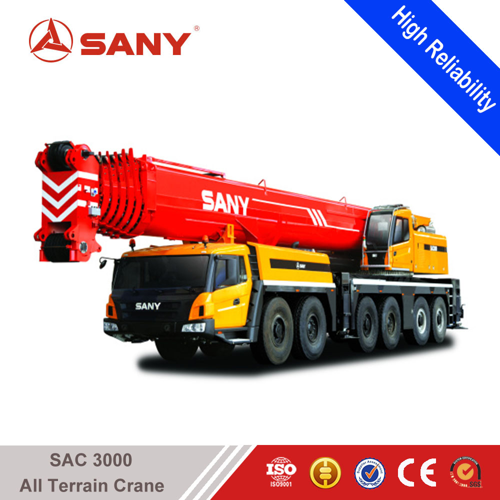 SANY SAC3000 300 Tons Hydraulic Crane of Truck Mounted Mobile Crane