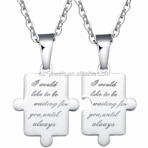GX538 stainless steel lover pendant black or white color fashion jewelry accessories gifts