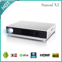 4K Smart Blu-ray 3D LED Projector / Bluetooth Projector With Android 4.4 OS HDMI MHL