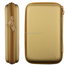 Professional Gold Shockproof EVA Phone Cables Charger Bag Mobile Hard Drive HHD Protector Power Bank Battery Case