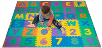 36 tiles + 24 borders New 36pcs Kids Baby Alphabet Number Interlocking EVA Foam Floor Puzzle Play Mat