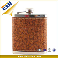 Modern design stainless steel liquor hip flask