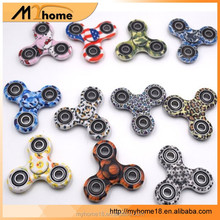 Hot sell fidget spinner fingertip gyro / finger Camouflage decompression triangular gyro / hand rotating toy