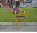 GOOD SALE! High quality cheap Aluminum Fabric Chair restaurant bamboo chair