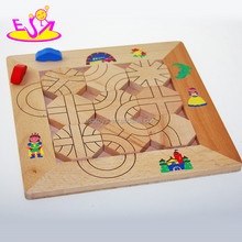 New Wooden maze board toy for kids,Classic item wooden educational maze car toy,Children magnetic maze wooden toys W14A110