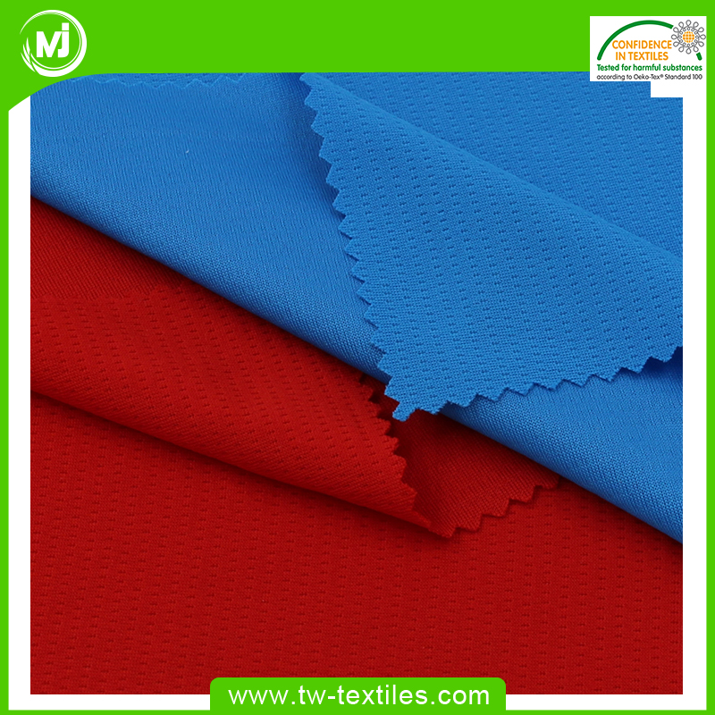 Best Selling Quick Dry Double Knitted 100% Polyester Two Sides Bird Eye Mesh Fabric