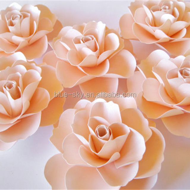 Handmade Large Rose Paper Flower Decorative Wall Paper Flowers China Wholesale Wedding Decoration Fower Stand