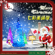 Led Light Up Toys,Hot Soft PVC Battery Powered Led Color Changing Christmas Tree Night Light Toys