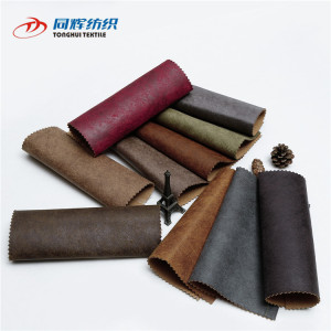 Wholesale 630Gsm Circular Knitting Bronzed Faux Suede Sofa Fabric