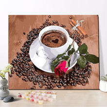 CHENISTORY DZ1478 Picture Painting By Numbers Free Mind Leisure Coffee On Canvas With Frame