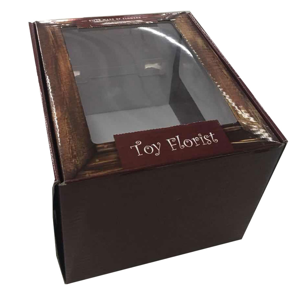 Custom small printing toy bear box with window for gift <strong>packing</strong> with logo
