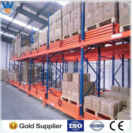 Rolled Steel Material Warehouse push back rack storage manufacturer