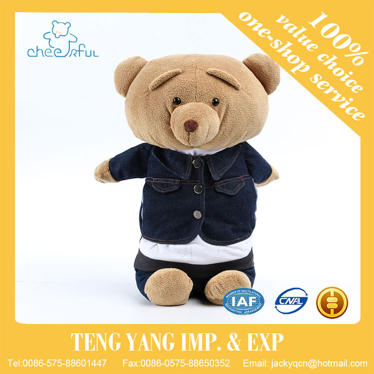New design Eco-friendly Cute looking stuffed black bear toy