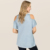 women clothing womens stripe o-neck cotton t shirt,lattice cold shoulder shoulder mineral wash knit tee