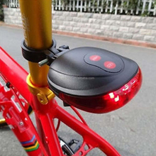 DIHAO 2015 Bike Accessories Warning Light Bicycle LED Tail Rear Laser Light