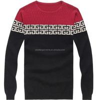 BGA16005 Mens fashion soft cotton jacquard knitwear spring custom sweater