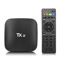Factory Rockchip RK3229 Quad-core 2GB+16GB smart Android tv box TX2 R2 Android 6.0 HD TV Box 2.4G Wifi BT2.1 streaming tv