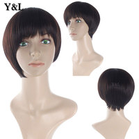 Cute Heat Resistant Synthetic Short Hair Cuts Wigs for black women