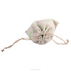 Brown fabric jewelry organza cotton jute bags mini Drawstring pouch for gift