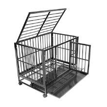 outdoor waterproof double door metal dog kennel cage
