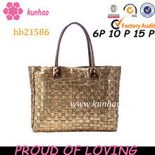 vintage PU leather fashion beach bag