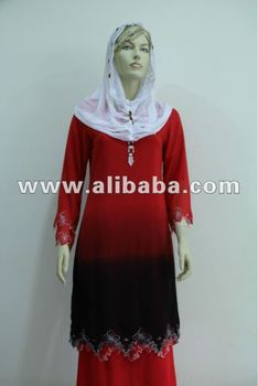 Fashion Islamic baju kurung plus size ladies women dress