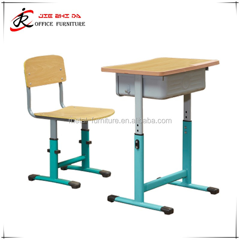 New Colorful Adjustable modern school desk and chair, cheap school furniture