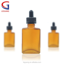 Chinese wholesale square amber glass dropper bottles with 15ml 30ml for essentail oil bottles dropper with long tip