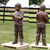garden landscaping and decoration life size bronze fishing boy statue for swimming fountain ornament