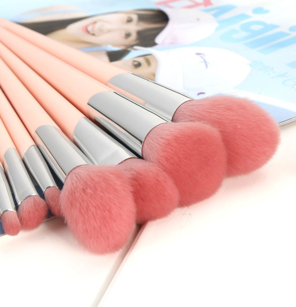 Low MOQ Super Soft personalized Makeup Brushes With Glitter Bag For Foundation Blush