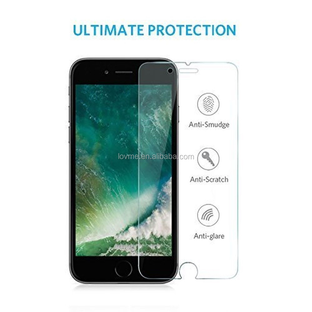 Genuine 100% Tempered Glass Film Screen Protector For Apple iPhone 7 Plus