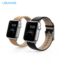 genuine leather wirst strap for apple watch, USAMS watch band for apple watch with connector adapter
