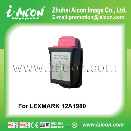 Remanufactured ink cartridge For Lexmark 12A1980