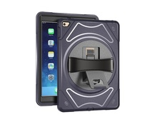 Top Quality 360 Degree Rotating hand strap case for ipad mini 4 back cover
