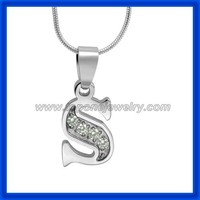 Hot fashion jewelry letter stainless steel fancy wholesale alphabet pendants s pendants