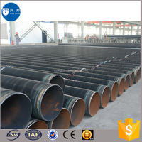Construction materials carbon welded steel pipe with epoxy coal pitch painting and fiber cloth for coal gas supply