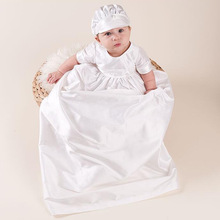 Heirloom Wholesale Cream Cotton Baby Boy Baptism Long Dress Unisex Christening Gowns