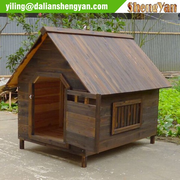 Carbonized solid wood dog house, dog kennel