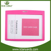 Wholesale cheap custom pink PP card holder