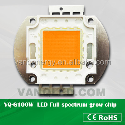 VANQ integrated cob grow led 100w full spectrum for indoor hydroponic system