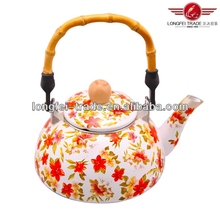 hot sale high grade enamel cast iron metal teapot