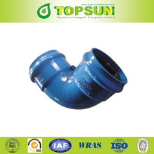 PVC Pipe fittings Ductile Iron Double Socket 90 degree bend/ Elbow For PVC Pipe