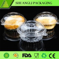 Single Plastic Cupcake Cake Dome Favor Container Boxes