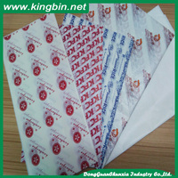 China Manufacturer Supply Greaseproof Wrapping Paper Printed Sandwich Paper
